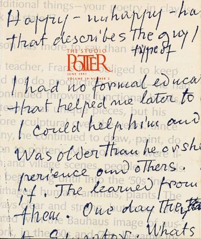 Indiana Potters - Vol. 19 No. 2 - Part I, June 1991