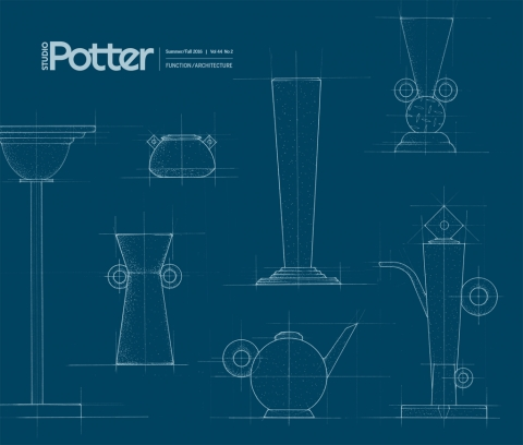 Cover, Studio Potter, Vol. 44, No. 2, Summer/Fall 2016, Function-Architecture