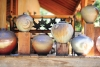 Woodfired jars by Robin DuPont at his home and studio. Photograph by Emma Love.