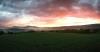 Hawk Mountain near Kempton, PA, at sunset, 2016. Photograph by Lisa Gauker.