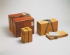 The lacquered outer box, the tea caddy box, the shifuku outer box, and the paper covers for tea caddy and shifuku boxes.