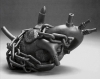 Heart Teapot: Hostage/Metamorphosis IV, 2006, from the Yixing Series. Stoneware, lustre. 7x12x6m. Collection of the Holter Museum of Art, Helena, MT