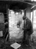David Potter firing his kiln, Norfolk, U.K.