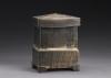 Michael Simon, Black Box. Thrown and altered, cone 10, salt-glazed. Photo by Al Karvey.