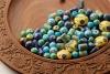 Neerja International. Jaipur blue pottery beads for making accessories.