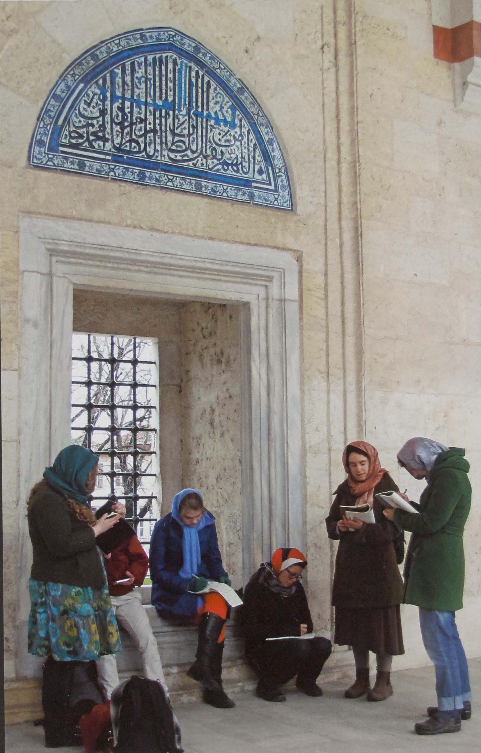 Marlboro College students at Uc Serefeli Mosque, Edime, Turkey, 2013.